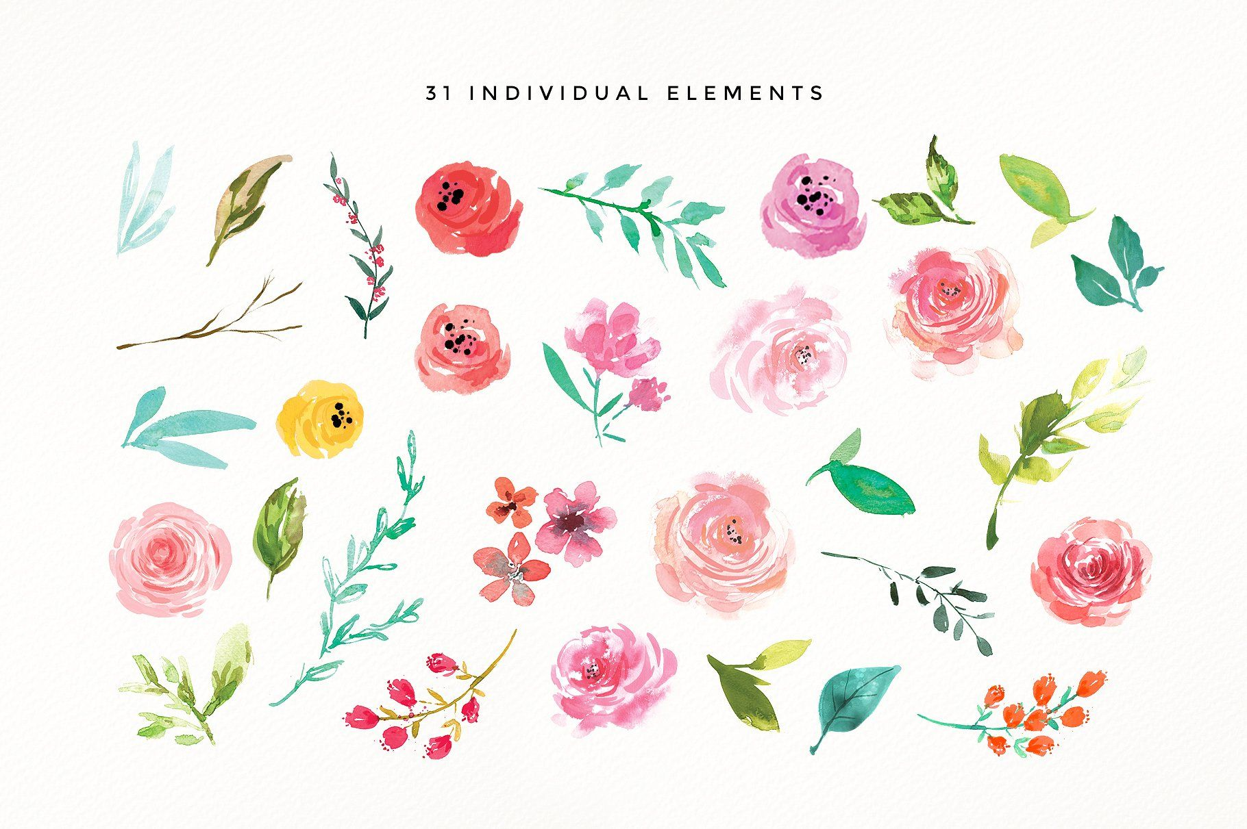 Adele Watercolour Flower Design Set Instagram Template Design