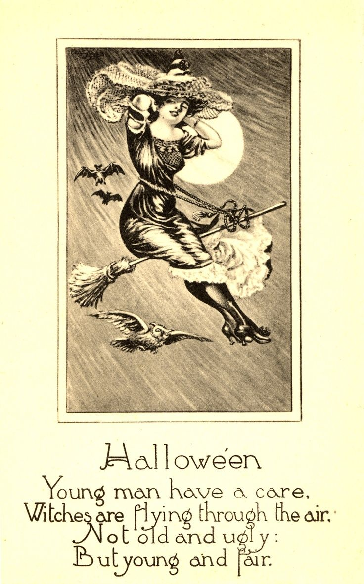 Delightful Classic Flying Witch Vintage Halloween Card With Poem Vintage Happy  Halloween Cards Halloween Vintage Halloween Card Ideas Part 2 (736×1179)
