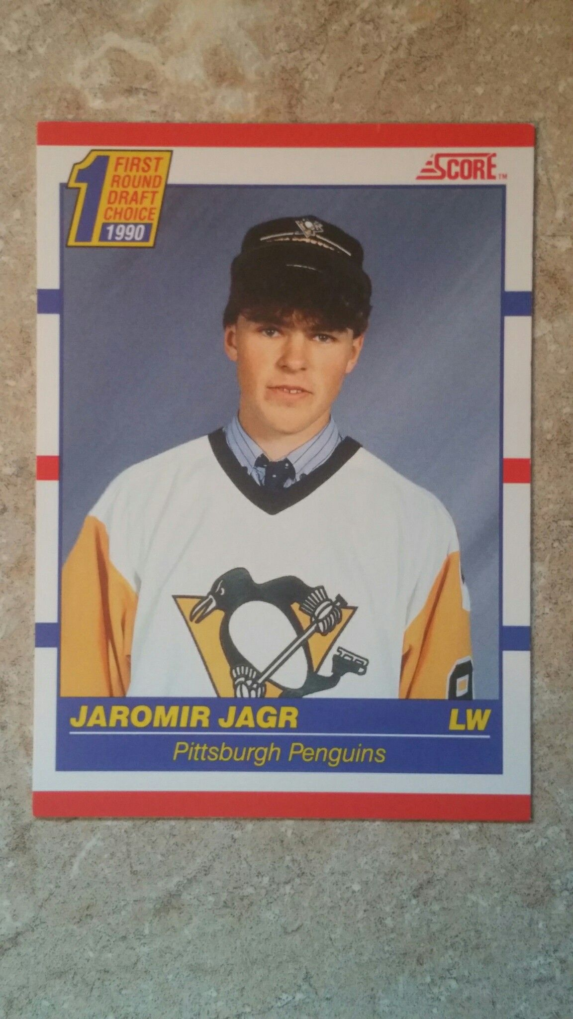 jaromir jagr rookie card score