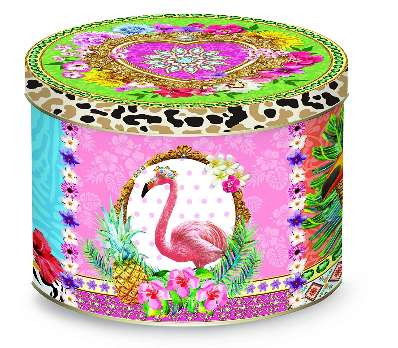 Amazon.uk Fancy Mug in Metal Tin, Flamingo Design