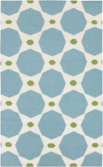 Large scale, teal blue, what's not to like about this rug from Surya? (FT-336)