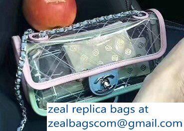 ba6a3f483b86 Chanel PVC Coco Splash Mini Flap Bag A57048 Pink/Blue/Green 2018 ...