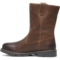 Photo of Cognacfarbene Boots aus Leder (40,41,42,43,44,45,46) Manfield