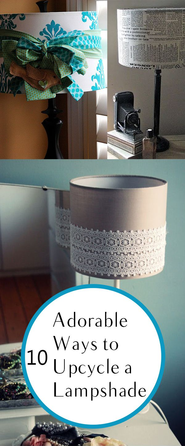 10 Adorable Ways To Upcycle A Lampshade Craft Ideas Diy Kitchen