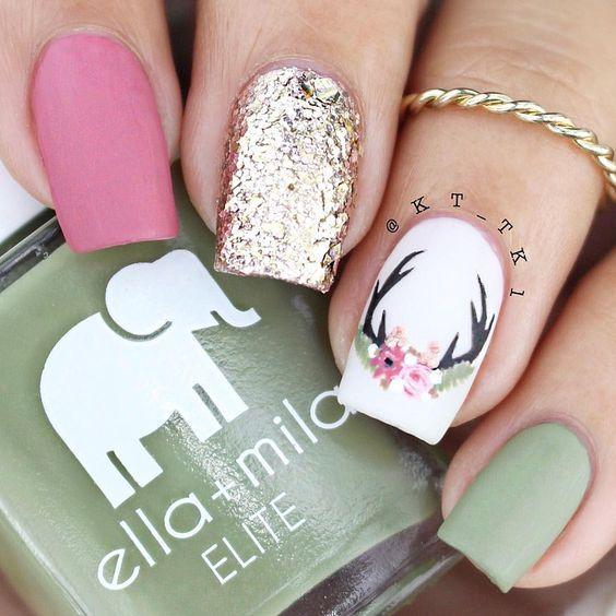 Manicura para navidad 30th nails inspiration and manicure - Unas bonitas decoradas ...