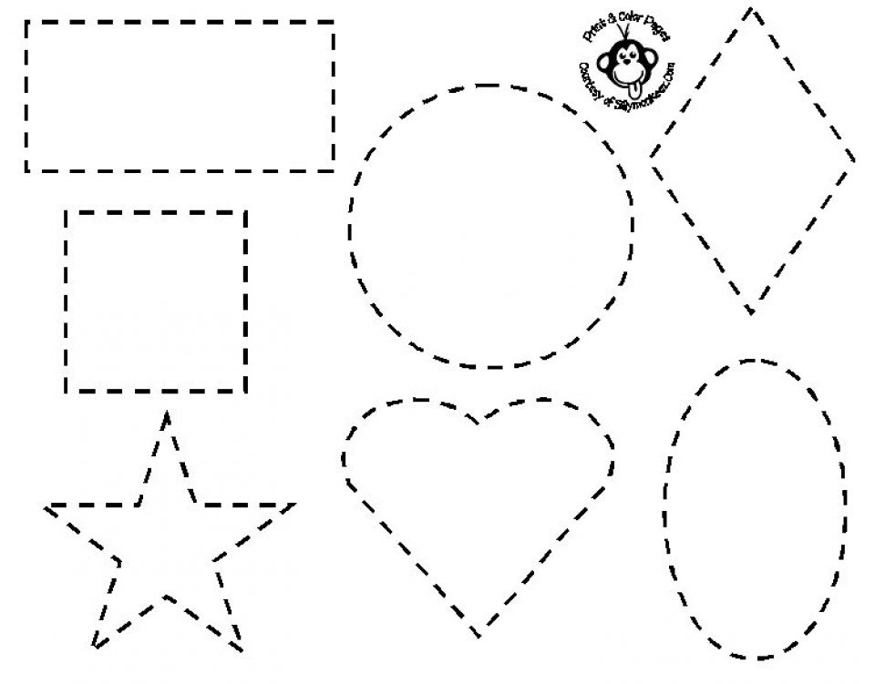 Preschool Coloring Pages And Worksheets Shapes Worksheets