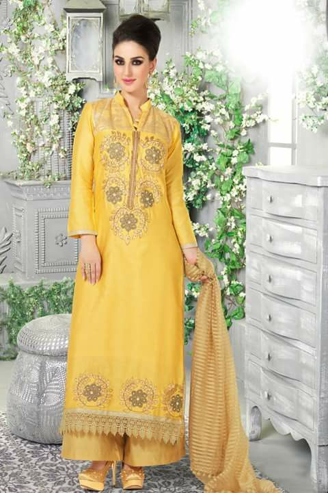 # party # casual # salwar # suits @ http://zohraa.com/yellow-satin-salwar-kameez- z2898p1002-16.html # celebrity # anarkali # zohraa # onlineshop # womensfashion # womenswear #bollywood # look # diva #party # shopping # online # beautiful # beauty # glam # shoppingonline # styles # stylish # model #fashionista # women # lifestyle # fashion # original # products # saynotoreplicas
