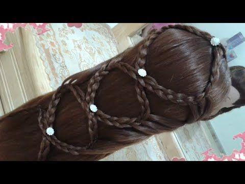 peinados recogidos con trenzas faciles para cabello largo bonitos y rapidos para nia mariposa