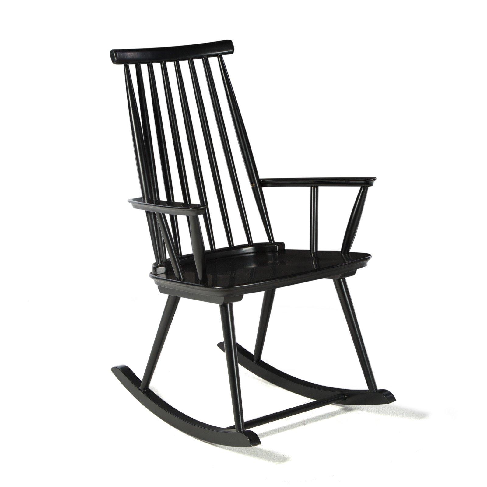 Incredible Belham Living Warren Modern Windsor Rocking Chair Black Ibusinesslaw Wood Chair Design Ideas Ibusinesslaworg