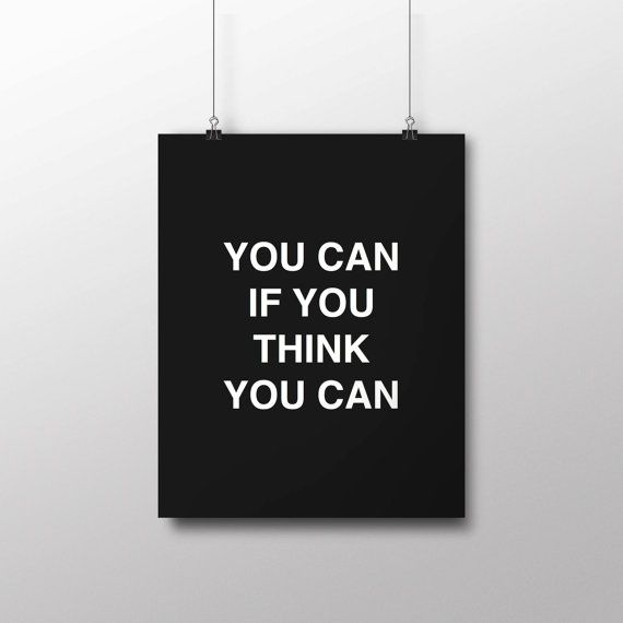 Printable Art Typography Poster You Can If by curlybracketdesign