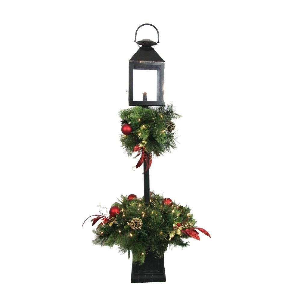 Home Accents Holiday 4 Ft. Artificial Lantern Porch Tree