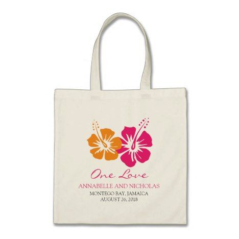 Tropical Hibiscus Flowers Wedding Guest Tote Bag Zazzlecom Your