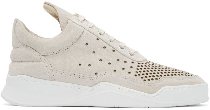 Filling Pieces - Beige Gradient Perforated Sneakers