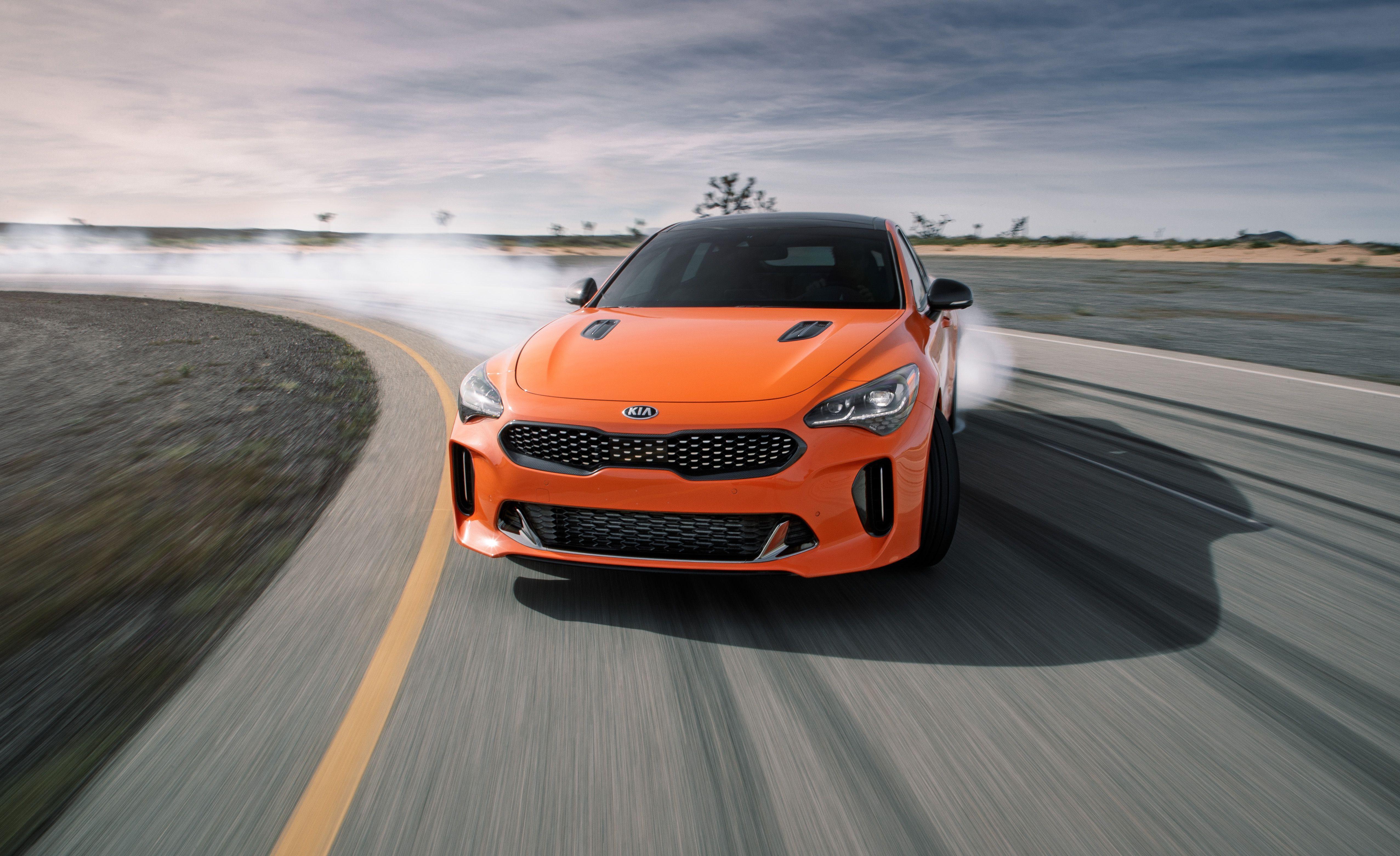 2020 Kia Stinger Gts Is An Orange Special Edition With A Drift Mode Up Its Sleeve Kia Stinger Kia Motors Kia