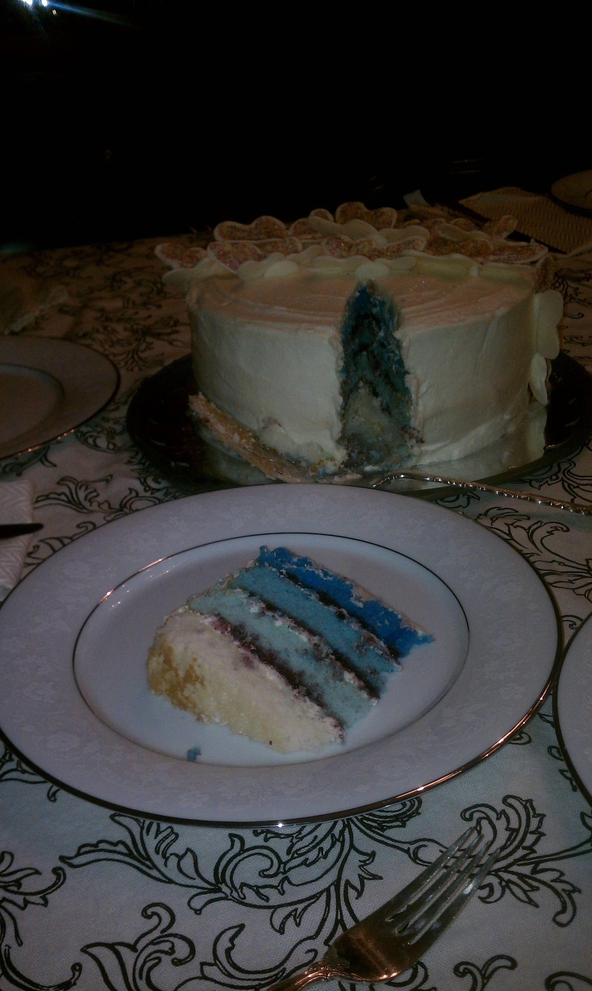 Gender reveal cake! It's a boy:) | Gender reveal cake ...