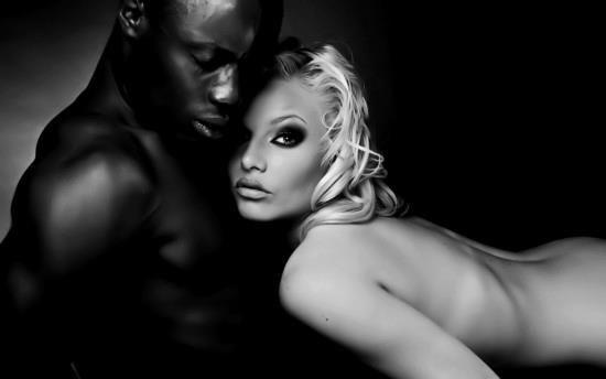 Erotic images black men white women