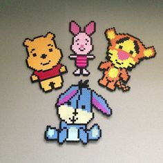 Perler Beads of the little mermaid | Winnie the Pooh and friends hama perler beads by christina_eats