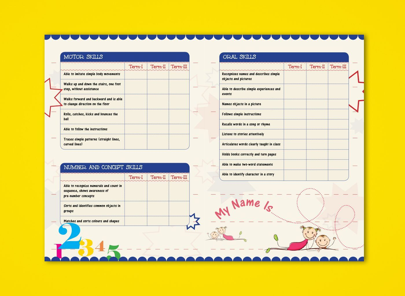 024 Simple Report Card Template Rare Ideas Format Basic With