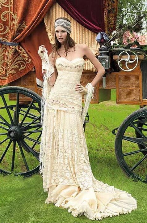Hippie chic weddind dress