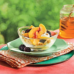 Fresh Summer Peach Recipes   Peach-Blackberry-Yogurt Fruit Cups   SouthernLiving.com