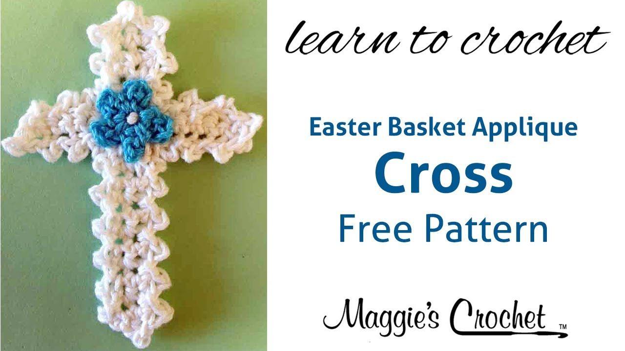 Easter Cross Applique Free Crochet Pattern - Right Handed | Crochet ...