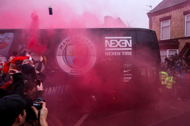 Liverpool Charged By Uefa After Fans Attack Manchester City S Team Bus Bleacher Report Liverpool Manchester City Tyre City