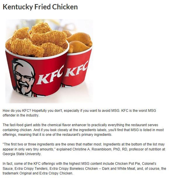 Bad Kfc For This Is A Poison Toxic Food Causing Brain Disease