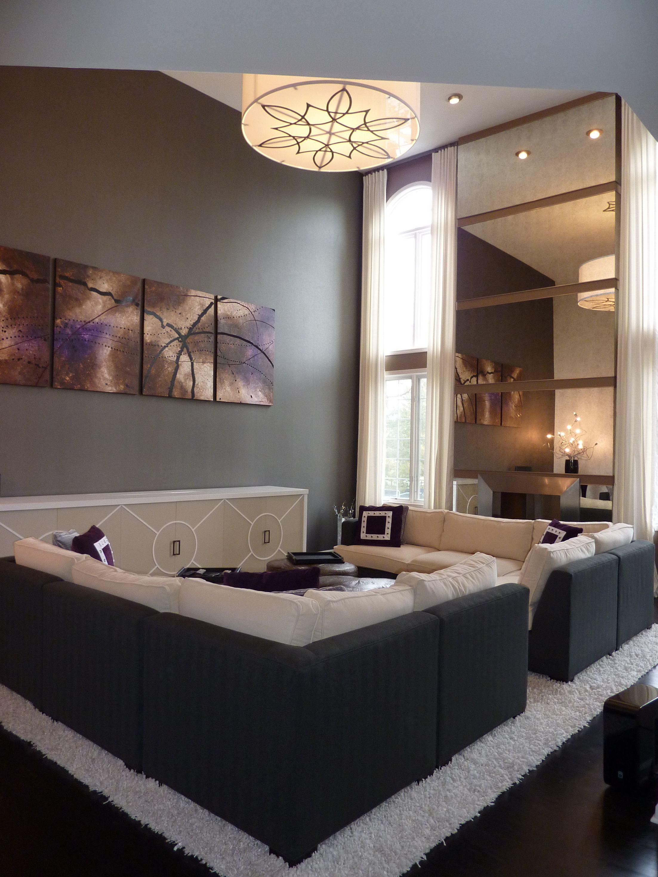 Salón sobrio #Salones  #Living_room  #dark_livingroom