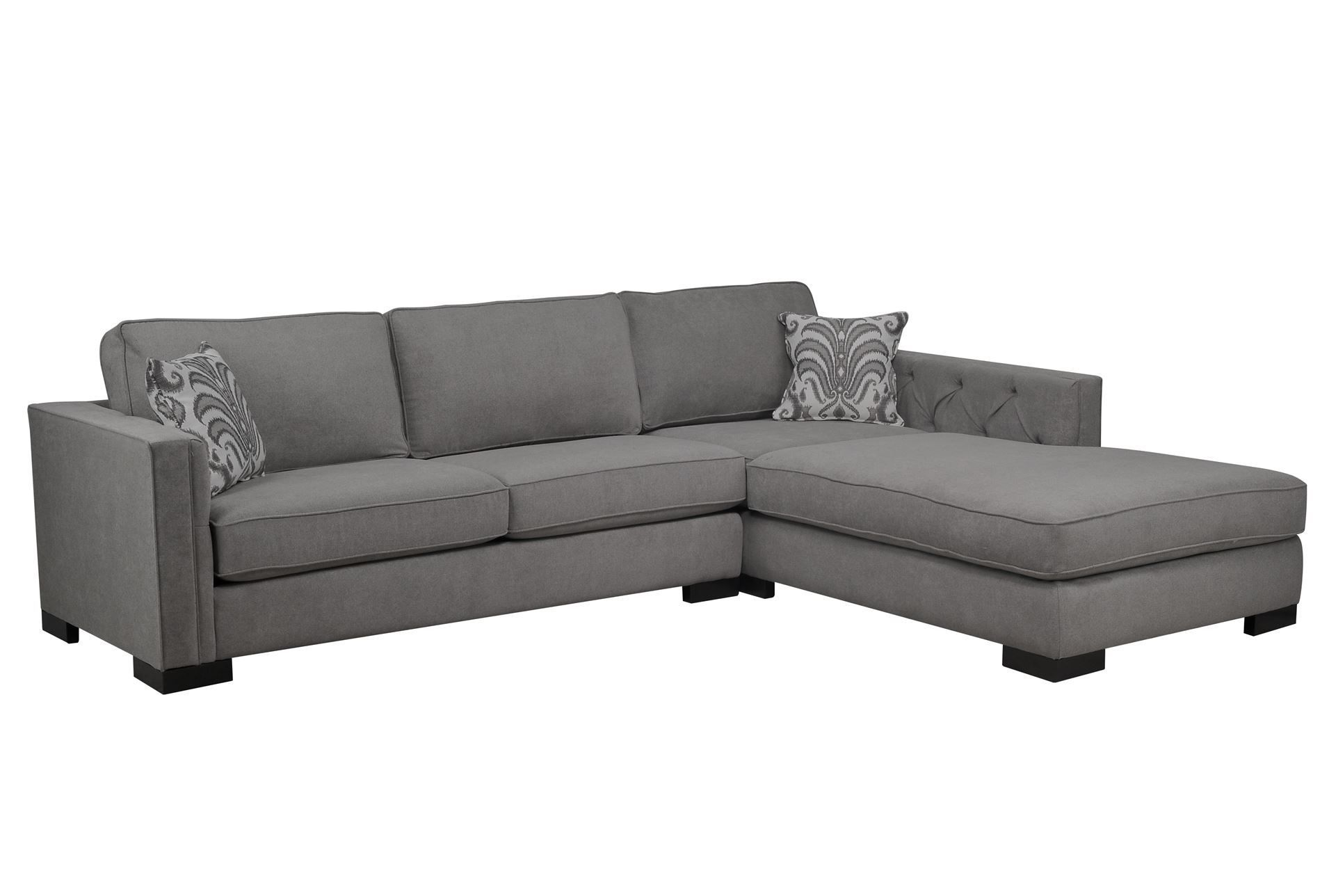 Julius 2 Piece Sofa Chaise The shape of this piece would work