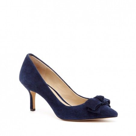 7f8dee99e Women's New Navy Suede 2 1/2 Inch Mid Heel Pump | Ena by Sole Society