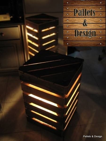 Delicieux Pallet Table   Cheap/crates U0026 Lights Underneath For Extra Seating/tables