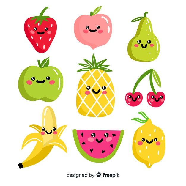 Download Hand Drawn Adorable Food Collection For Free How To Draw Hands Fruit Illustration Kawaii Fruit