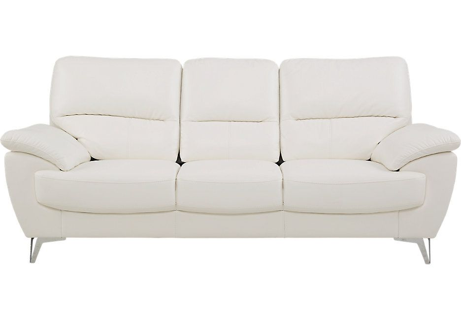 Northway White Sofa 599 99 87w X 38d 37h Find Affordable Sofas For Your Home That Will Complement The Rest Of Furniture Isofa Roomstogo
