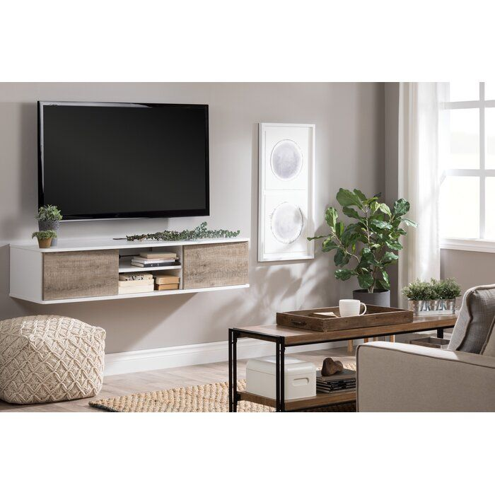 """Agora Floating mount TV Stand for TVs up to 65"""""""