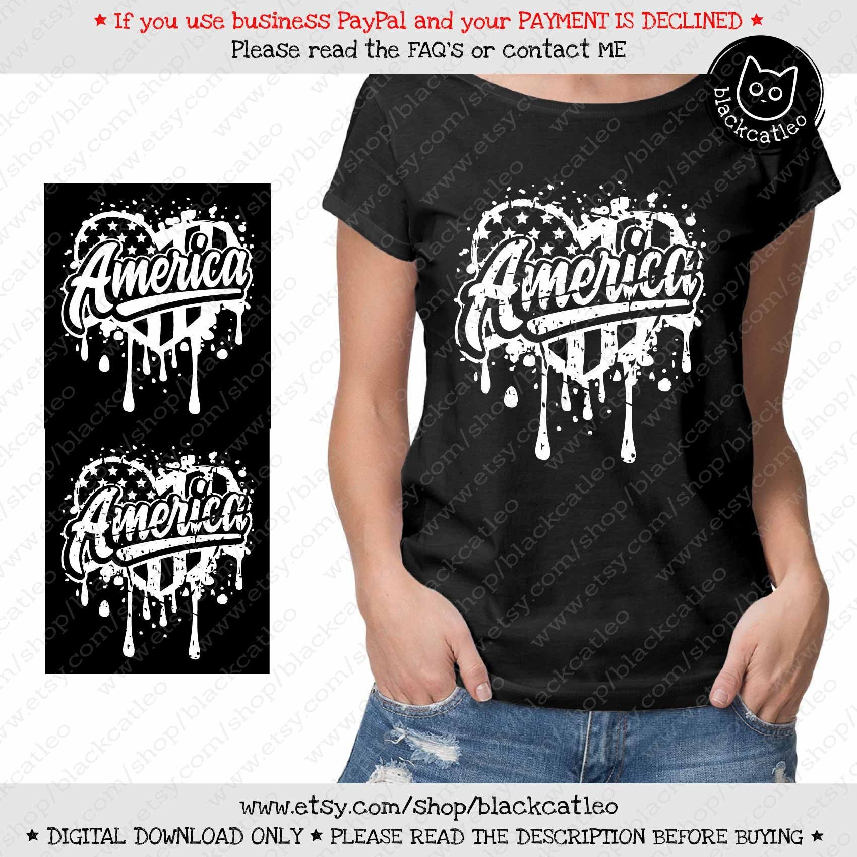 America on heart american flag splashes svg Distressed 4th