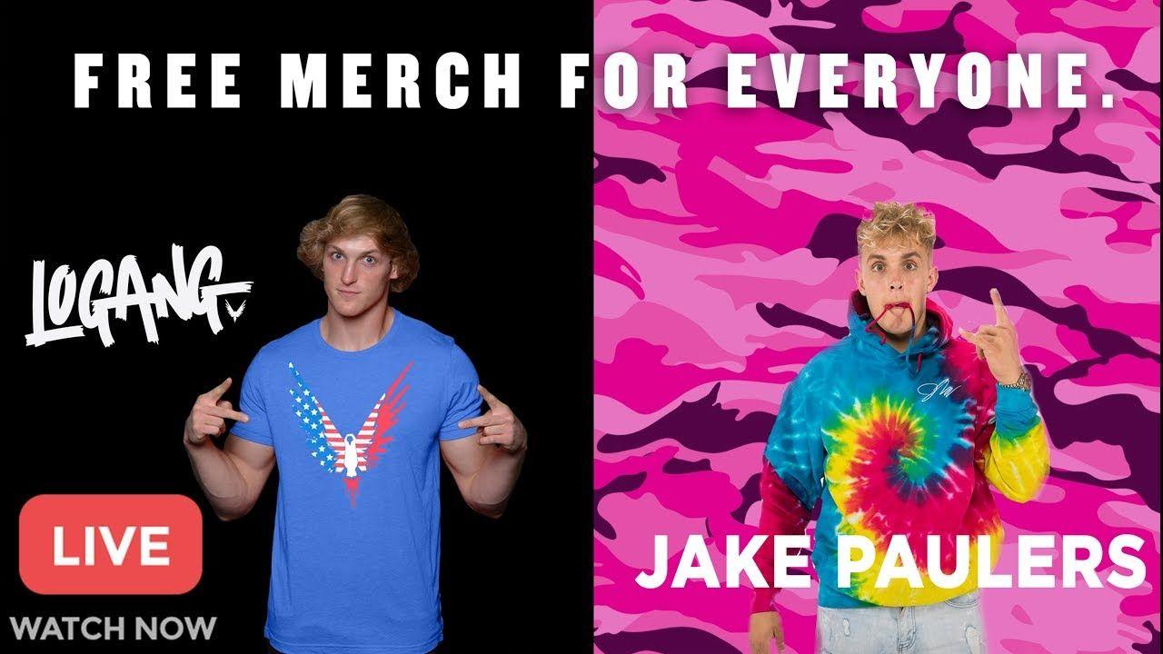 Jake Paul Free Merch Giveaway
