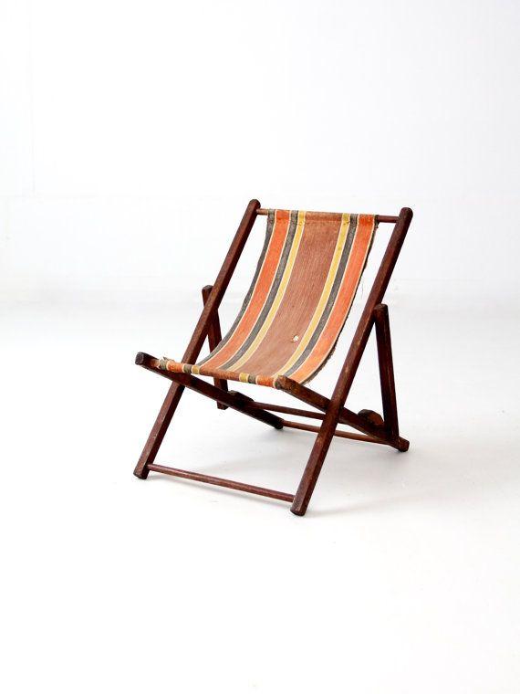 Vintage Children S Deck Chair Beach