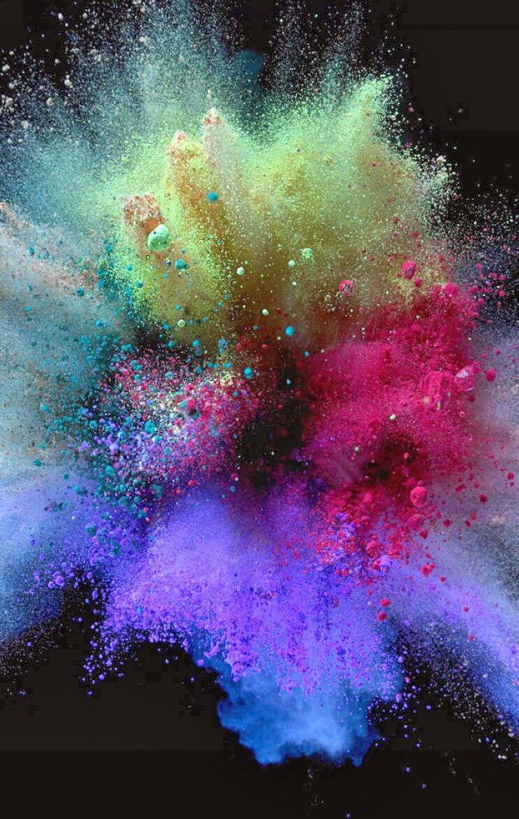 Paint Explosion Holi Colors Colours Colorful Backgrounds Wallpaper Iphone