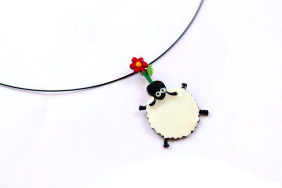 Handmade Sheep Necklace-Sterling Silver or by AnoushehBarzegar
