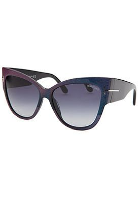 1455d0dbe23c Tom Ford Women s Anoushka Cat Eye Purple Sunglasses