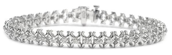 Diamantarmband mit 2.00 Karat Diamanten aus 585er Weißgold  diamantarmband   diamant armband  gold  juwelier e70a50da7528a