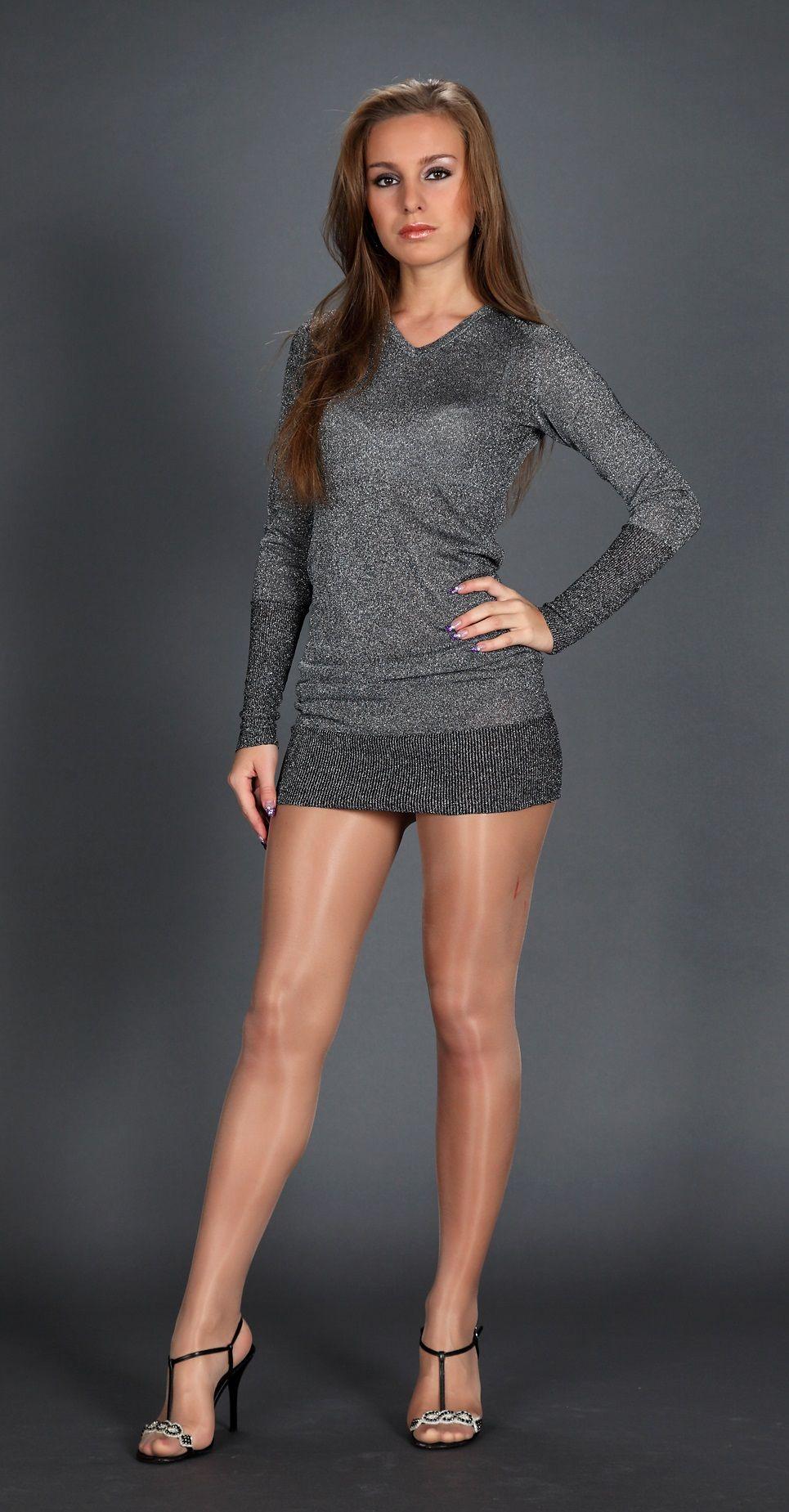 Hard legs in pantyhose