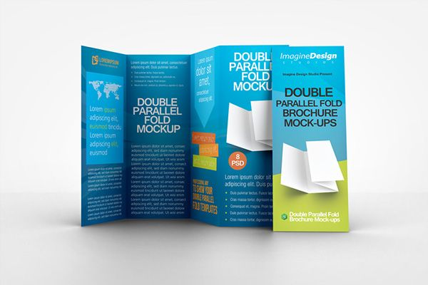 Double Parallel Fold Brochure Mockup on Behance MENU PICS - double fold brochure