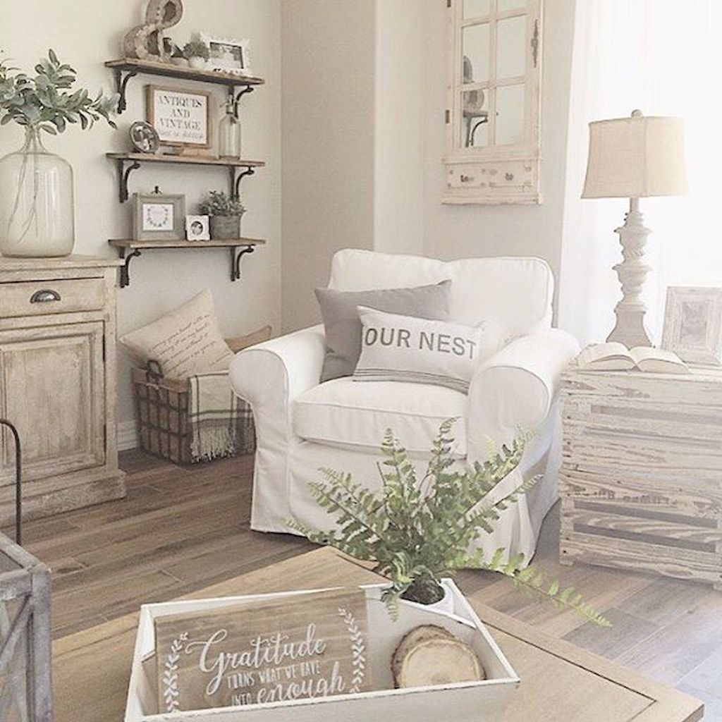 Rustic Farmhouse Living Room Decor Ideas (33) #coastallivingroomsdecor
