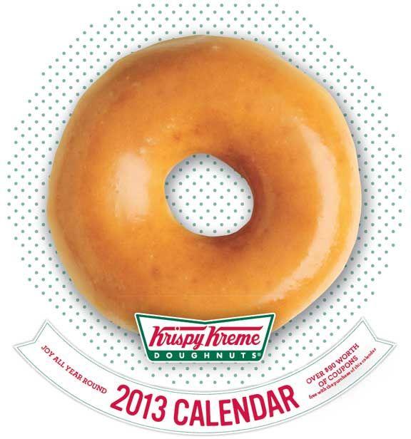 Krispy Kreme Calendar.Get The 2013 Krispy Kreme Calendar In Stores Now In The Us