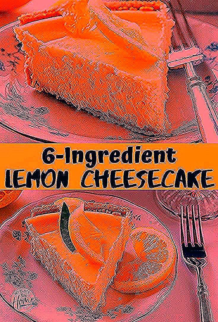 Creamy Lemon Cheesecake with only these six simple ingredients: Philadelphia Cream cheese, lemon, s