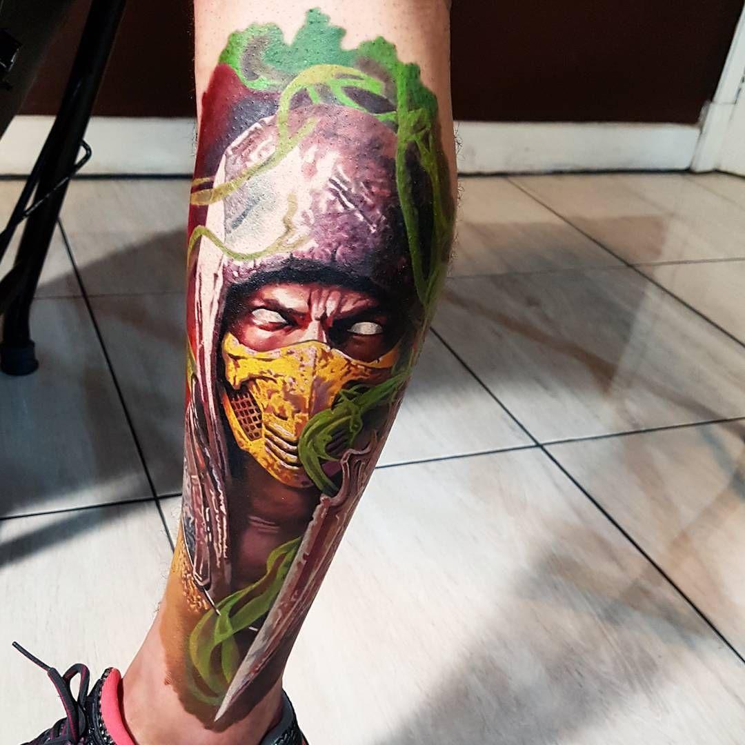 Mortal Kombat Tattoo By Fabricio Victor Tattoo border=