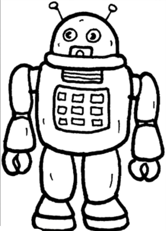 Robot Coloring Pages for Kids | Robots | Pinterest | Outer space and ...