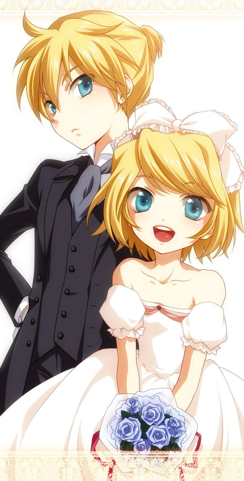 Looks like Rin and Len are attending a wedding as ring