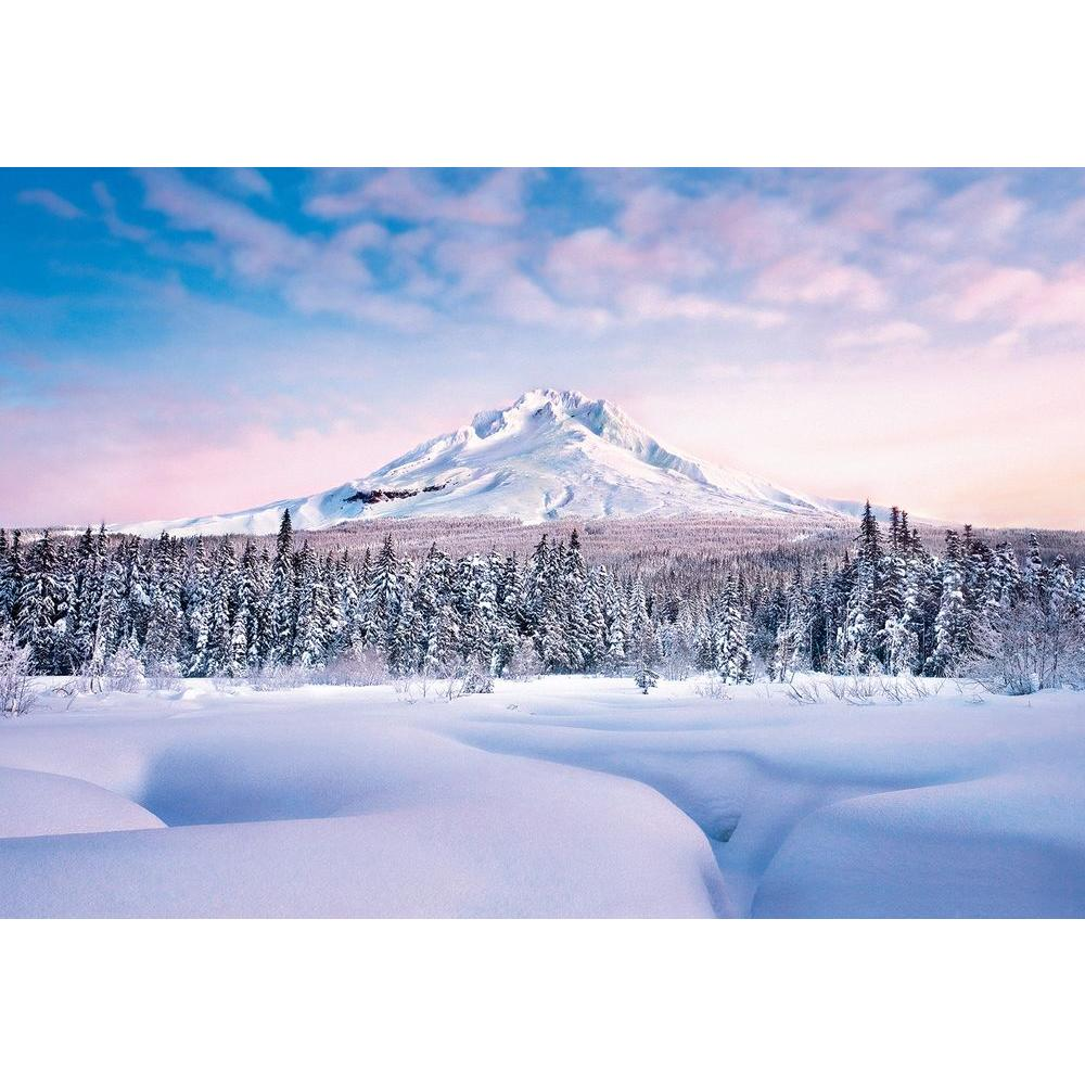 Ideal Decor 100 in x 144 in Mountain Graceful Wall Mural Wall